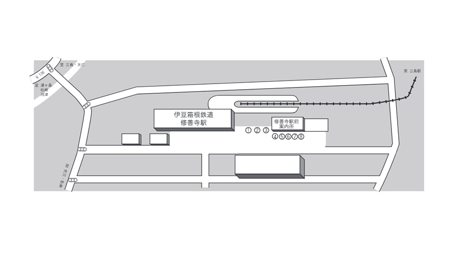 修善寺駅前 バス停