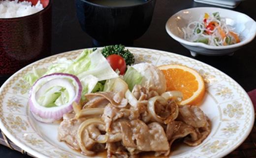 ふじの国ポークの生姜焼き定食